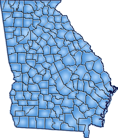 Georgia Regional Economic Analysis Project GAREAP - Georgia map project