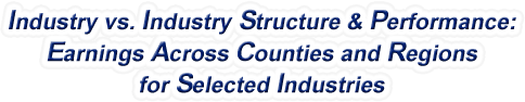 Georgia - Industry vs. Industry Structure & Performance: Employment Across Counties and Regions for Selected Industries